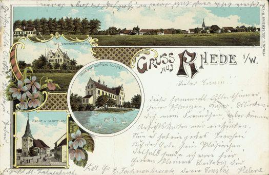 Gruß aus Rhede, ca. 1898