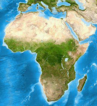 Afrika - satelitná snímka